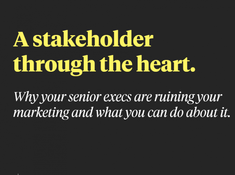 The BEST ADVICE EVER – for Marketers and Stakeholders